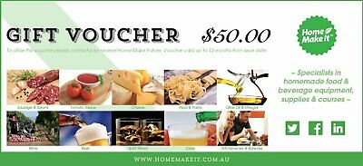 NEW Home Make It Gift Voucher - $50