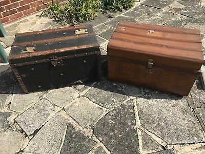 Two Vintage Steamer Trunks