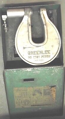 GreenLee Hydraulic Knockout Driver Set No. 1731 Punch Used With Accessories