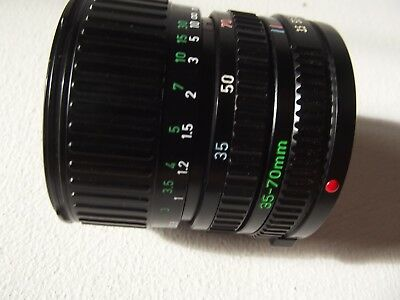 Canon FD 35-70mm F1.3.5-4.5 Zoom Lens.