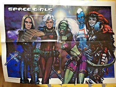 2000 AD Comic - Space Girls poster prog 1035 Good condition