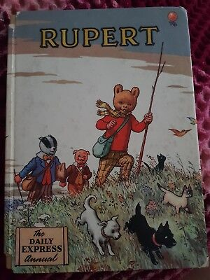 1955 Rupert Annual good condition some damage to spine name completed neatly