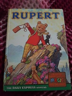 1964 rupert annual, good condition magic colourings complete neatly