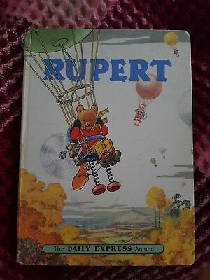 1957 rupert annual good condition name complete neatly slight damage to spine