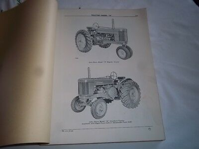 Vtg Original 1950's JOHN DEERE Waterloo DEALER Mod 70 Tractor Parts Catalog 1954