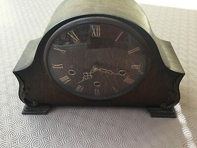 Smiths Enfield Chiming Mantle Clock For Spares Or Repair