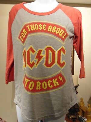 "AC/DC ""For Those About To Rock"" Women's Tour T-shirt, Size L"
