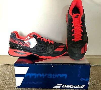 Babolat JET ALL COURT M  US 11.5 / EUR 46  Tennis Shoes Grey Red / Gris Rouge