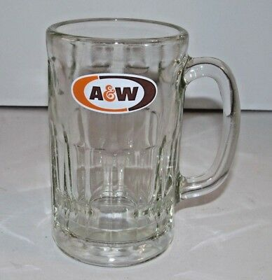 """A & W Root Beer Heavy Glass Dimple 6"""" Tall Mug"""