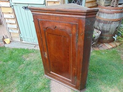 Antique oak corner cupboard cabinet