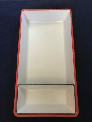 Room Essentials Melamine Serving Tray Double Handle Redwhite
