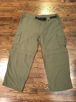 BOY SCOUTS Of America CONVERTIBLE Cargo Pants Nylon Scout Adult Mens LARGE