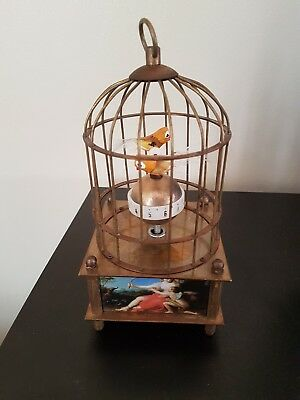 Vintage/ Antique Automaton Brass Bird Cage Clock