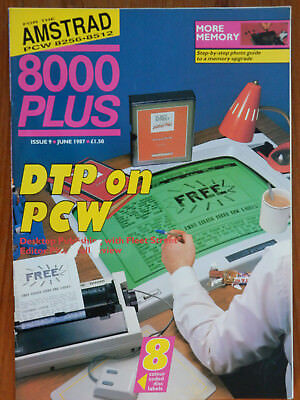Amstrad 8000 Plus - May & June 1987 - 2 vintage computer magazines VGC
