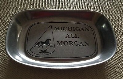 *reduced*...morgan Horse Pewter Plate /dish