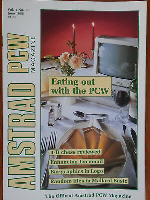 Amstrad PCW - June & July 1988 - 2 vintage computer magazines VGC