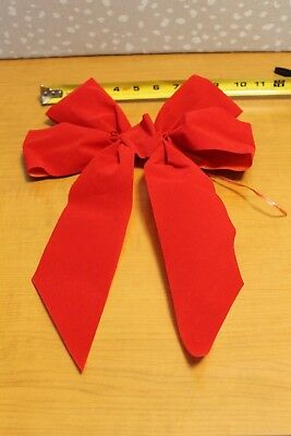 lot of 10 large 10 christmas bows red velvet indoor outdoor wreath ribbon - Large Christmas Bows