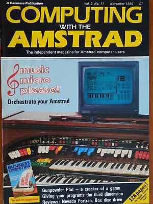 Computing with the Amstrad - Oct. & Nov. 1986 - 2 vintage computer magazines