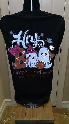 Simply Southern Long Sleeve Tee: Hey Boo (Ghosts) - Black