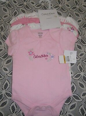 Baby girls pack of Calvin Klein body suits