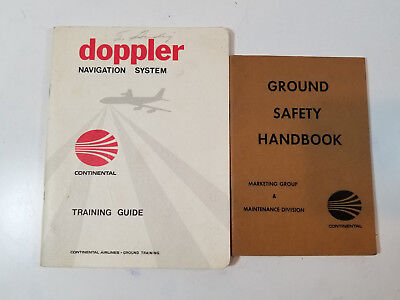 Vintage Continental Airlines Training Guide and Ground Safety Handbook 1960-70