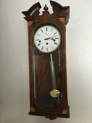Antique Style COMITTI LONDON Inlaid Mahogany clock
