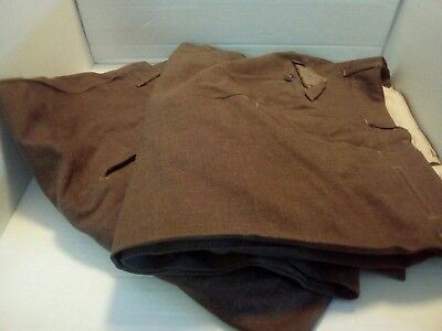VTG MILITARY Corporal US ARMY 36X33 38x33MEN BROWN OD M1952 WOOL TROUSERS 2prs