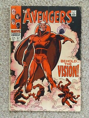 Marvel 'Avengers' #57 - First appearance of 'The Vision'.