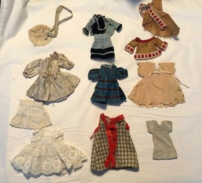 ~ Wonderful! Lot Of Antique Small Doll Clothing for All Bisque Dolls ~