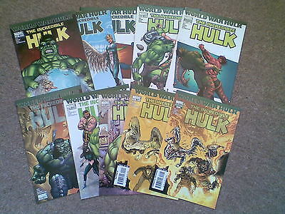 Incredible Hulk # 106 to 111 with variants World War Hulk Marvel Gary Frank