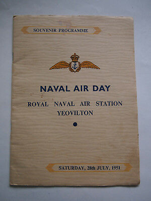 Souvenir Programme for the Naval Air Day, Yeovilton, July 1951.