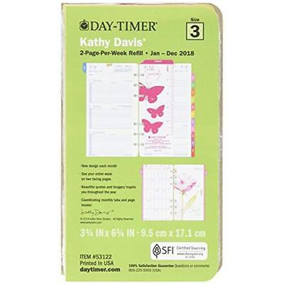 """Day-Timer Two Page Per Week Planner Refill, January 2018 December 2018, 3-3/4"""" X"""