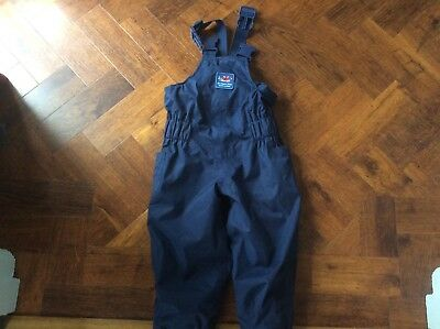 JOJO MAMAN BEBE Waterproof Dungarees Trousers 12-18mFLEECE LINED All-In-One Navy