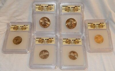 ICG SP 69 2005 6-Coin P & D WESTWARD JOURNEY SATIN FINISH SET w/ Box GIFT ITEM