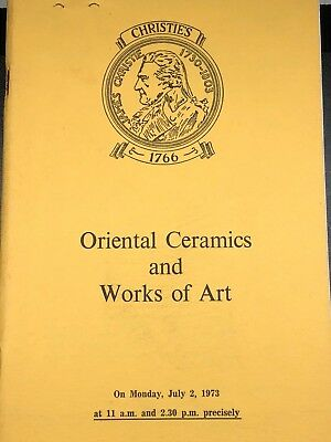 Christie's London Catalog, Oriental Ceramics and Works of Art, July 2, 1973