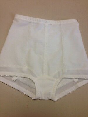 Subtract girdle brief size 30 NWOT in white cotton crotch has 4 garter tabs