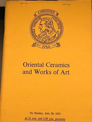 Christie's London Catalog, Oriental Ceramics and Works of Art, July 30, 1973