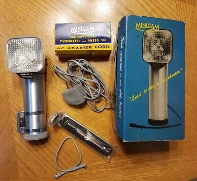 Vintage Twinklite P Camera Flash Model Transistorized Made in Japan