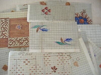 19th Century Cutting Plans, (Raquettes), Lyons Silk Textiles Industry