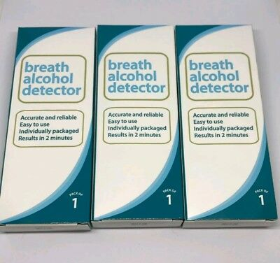 3x Accurate And Reliable Alcohol Breath Detector Breathalyser Triple Pack