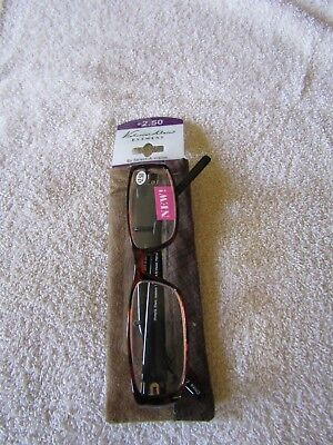 d1a95f8759fe Victoria Klein Select-A-Vision Reading Glasses Tortoise with Case +2.50