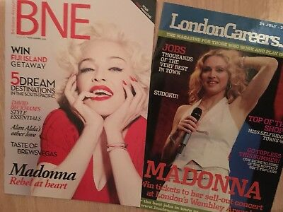 Two Madonna Magazines, BNE from Melbourne Australia and LondonCareer Net, UK
