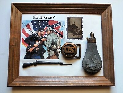 """MAN CAVE""1800's COMMEMORATIVE DISPLAY   16X13   inch - NICE PIECE"