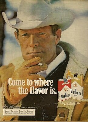 1978 AD Marlboro Cigarettes Reds 100's Rugged Cowboy Gloves Vintage Print Ad
