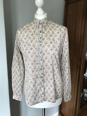 Beautiful Vintage Cotton Blouse By Liberty Of London Size 12-14 (M) Floral Ditzy