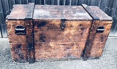RARE Shipping Trunk RMS MAURETANIA Cunard Lines 1908 Stunning! Museum Worthy!!