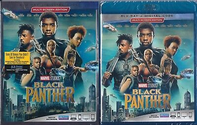 Marvel Studios Black Panther Blu-Ray+Digital Code & Sleeve - New And Sealed