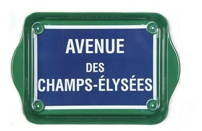 "Tray - ""Avenue Des Champs-Elysees"" - Tin 8 1/4"" x 5 1/2"" - French,Fun,Functional"