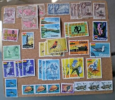 GHANA Stamps Used & Mint Hinged - selection from several reigns + modern