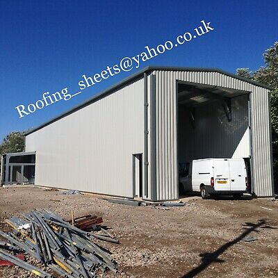 Steel building- Truck MOT Unit Large Industrial Insulated Clad Portal Building